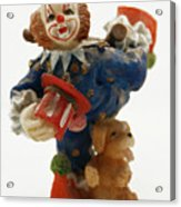 A Candy Colored Clown Acrylic Print