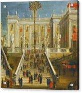 A Capriccio View Of The Campidoglio Acrylic Print