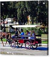 A Carriage Ride Through The Streets Of Katakolon Greece Acrylic Print