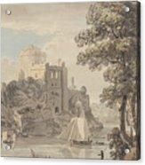 A Castle On A River Acrylic Print