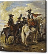 A Cavalry Skirmish Acrylic Print