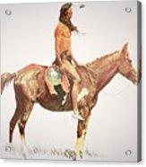 A Cheyenne Brave Acrylic Print