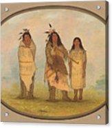 A Cheyenne Chief His Wife And A Medicine Man Acrylic Print