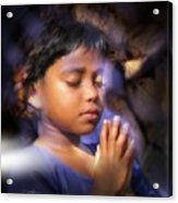 A Child's Prayer Acrylic Print by Bob Salo