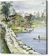 A Chinese Village Acrylic Print