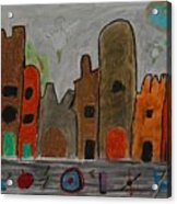 A Child's View Of Downtown Acrylic Print