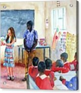 A Classroom In Africa Acrylic Print