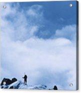 A Climber On The Airy Traverse Acrylic Print