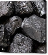 A Close View Of Coal Ready For Burning Acrylic Print