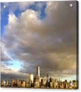A Cloudscape And Its Cityscape Acrylic Print
