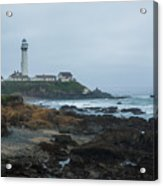 A Cloudy Day At Pigeon Point Acrylic Print