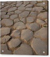 A Cobblestone Road In Rome Acrylic Print