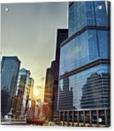 A Cold Chicago Day Acrylic Print