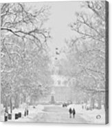 A Colonial White Winter Acrylic Print