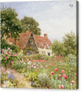 A Cottage Garden Acrylic Print by Henry Sutton Palmer