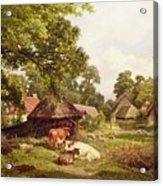 A Cottage Home In Surrey Acrylic Print by Edward Henry Holder
