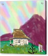 A Cottage In The Alps Acrylic Print