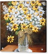 A Country Bouquet Acrylic Print