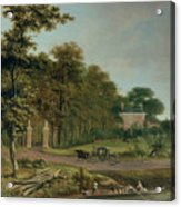 A Country House Acrylic Print by J Hackaert
