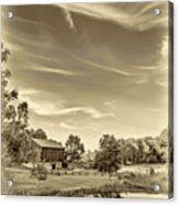 A Country Place 3 - Sepia Acrylic Print