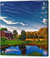 A Country Place Painted Version Acrylic Print