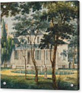 A Country Residence Possibly General Moreau's Country House At Morrisville Pennsylvania Acrylic Print