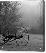 A Country Scene In Black And White Acrylic Print