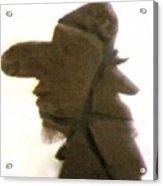 A Cowboy's Shadow In Rock - 2 Acrylic Print