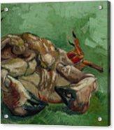 A Crab On Its Back - 1988 Acrylic Print
