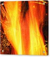 A Cracking Flame Acrylic Print