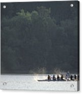 A Crew Team Rowing On The Potomac River Acrylic Print