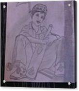 A Cricket Player Acrylic Print