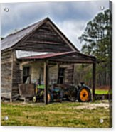 A Crooked Little Barn Acrylic Print