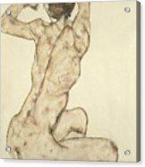 A Crouching Nude Acrylic Print