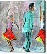 A Dance For Three Acrylic Print