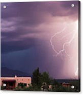 A Dance Of Lightning In The Foothills Acrylic Print