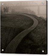 A Dark Widing Road Acrylic Print