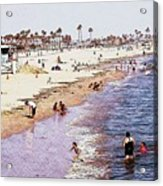 A Day At The Beach - Colored Pens Effect Acrylic Print