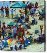 A Day At The Beach Acrylic Print by Jeff Breiman