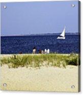 A Day At The Beach - Martha's Vineyard Acrylic Print