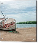 A Day Of Fishing Aground Acrylic Print