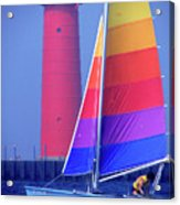 A Day Of Sailing Acrylic Print