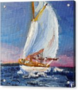 A Day On A Boat Is..... Acrylic Print