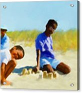 A Day On The Beach Acrylic Print