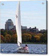 a day on the Charles Acrylic Print