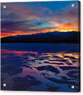 A Death Valley Sunset In The Badwater Basin Acrylic Print