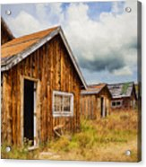A Deserted Sawmill Town Acrylic Print