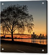 A Detroit Sunset - The View From Belle Isle Acrylic Print
