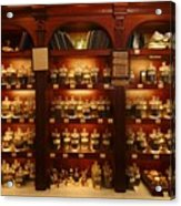 A Display Of Tea In A Tea Shop Acrylic Print by Richard Nowitz