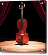 A Double Bass On A Theatre Stage Acrylic Print